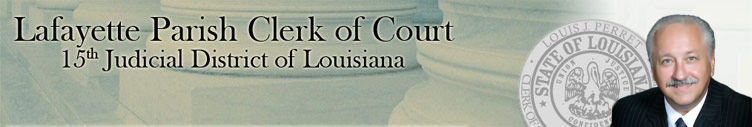 Lafayette Parish Clerk of Court - Louis J. Perret